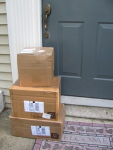 Boxes on Porch